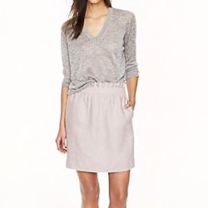 NWT J. Crew Linen Mini Skirt